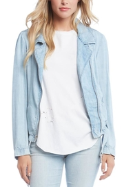 Fifteen Twenty Denim Moto Jacket - Front cropped