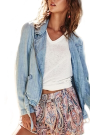 Fifteen Twenty Denim Moto Jacket - Front full body