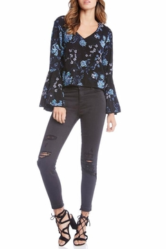 Shoptiques Product: Embroidered Bell Sleeve Top
