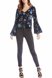 Fifteen Twenty Embroidered Bell Sleeve Top - Front full body