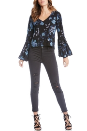 Fifteen Twenty Embroidered Bell-Sleeve Blouse - Front cropped