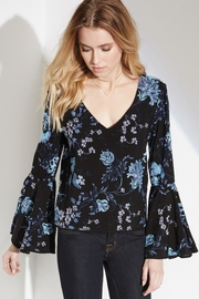 Fifteen Twenty Embroidered Bell-Sleeve Blouse - Front full body