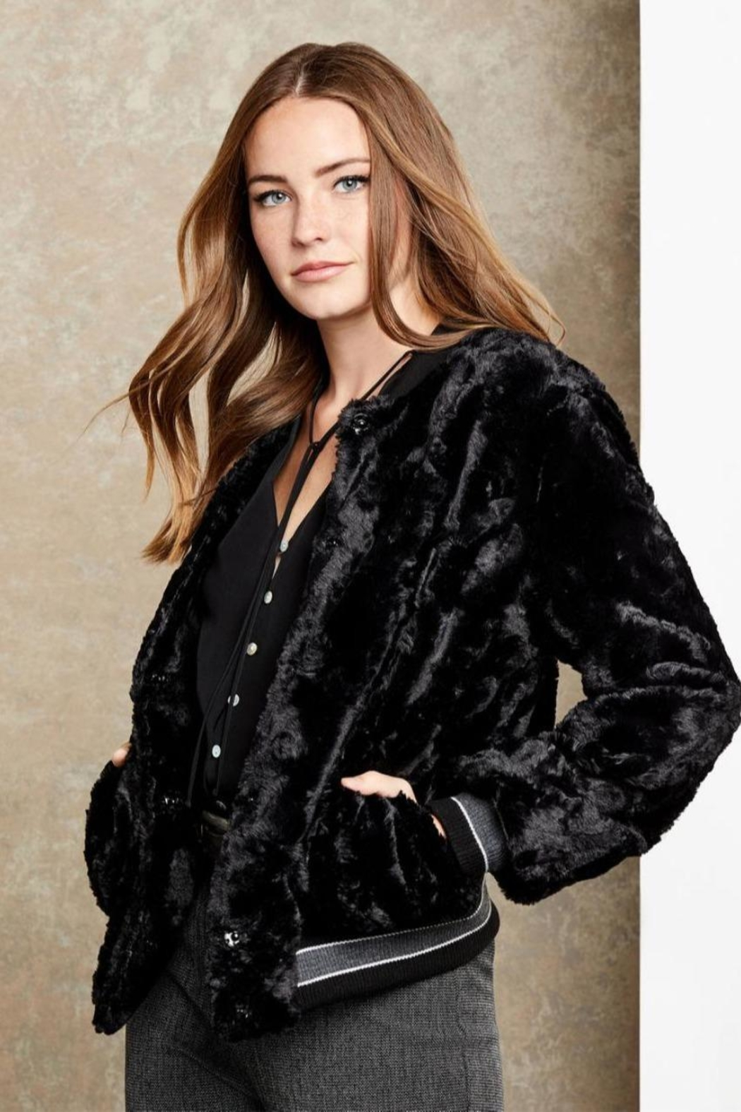 Fifteen Twenty Faux Fur Bomber - Main Image
