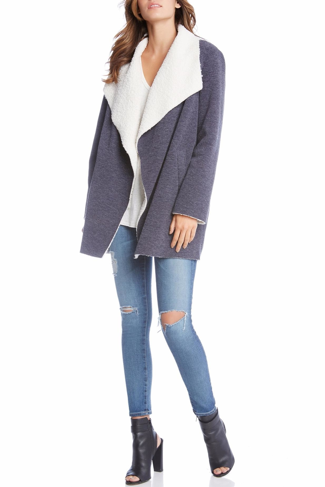 Fifteen Twenty Faux Shearling Coat - Front Cropped Image