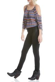 Fifteen Twenty Faux-Suede Yoke Pant - Front full body