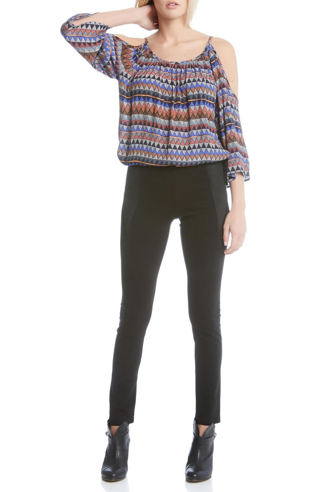 Fifteen Twenty Faux-Suede Yoke Pant - Front Cropped Image