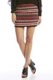 Fifteen Twenty Fringe-Hem Jacquard Skirt - Product Mini Image