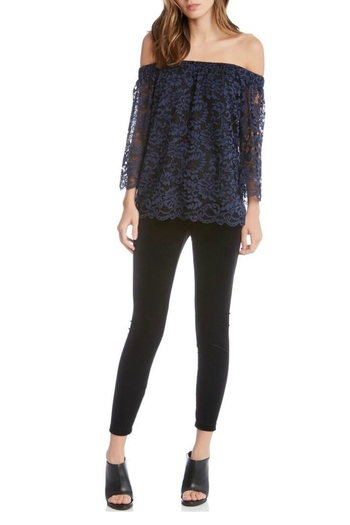 73fab1df1a Shoptiques · Fifteen Twenty Navy Lace Top from Westhampton Beach by Chic ...