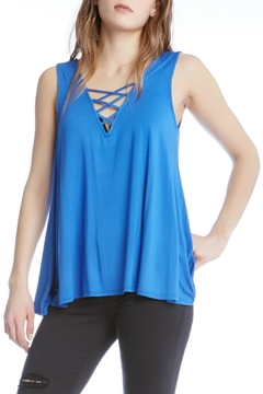 Shoptiques Product: Lace Up Tank Top