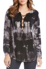 Fifteen Twenty Lace-Up Tie-Dye Top - Product Mini Image