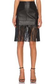 Fifteen Twenty Leather Fringed Skirt - Product Mini Image