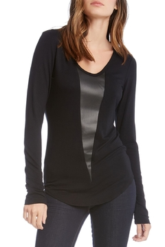 Shoptiques Product: Leather Insert Top