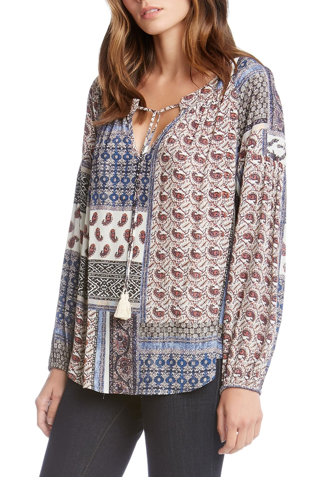 Fifteen Twenty Printed Blouse - Front Cropped Image