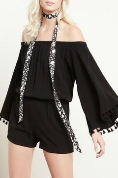 Shoptiques Product: Tassel Trim Romper