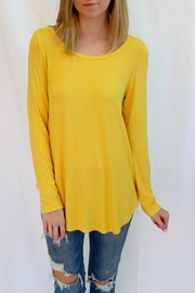 Fifteen Twenty Bright Yellow Long Top - Product Mini Image