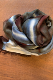 Fig & Bella Scarf Blue Brown - Front cropped