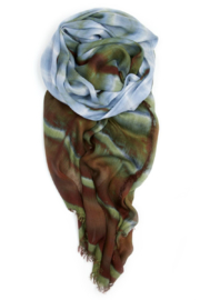 Fig & Bella Scarf Blue Brown - Front full body