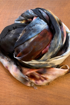 Shoptiques Product: Fig & Bella Scarf Grey and Brown