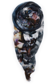 Fig & Bella Scarf Grey and Brown - Front full body