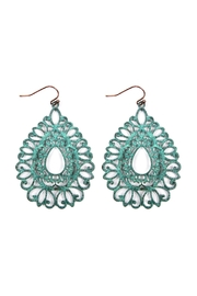 Riah Fashion Filigree Cast Earrings - Product Mini Image