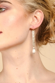 Saachi Filigree Drop Pearl Earring - Product Mini Image
