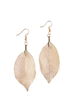 Shoptiques Product: Filigree Leaf Earring