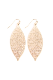 Riah Fashion Filigree Leaf Earrings - Product Mini Image