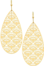 Girly Filigree Teardrop Earrings - Product Mini Image