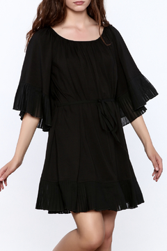 Shoptiques Product: Black Fan Pleated Dress