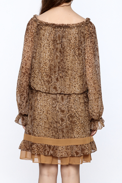 Filomena Fernandez Snake Print Chiffon Dress - Alternate List Image