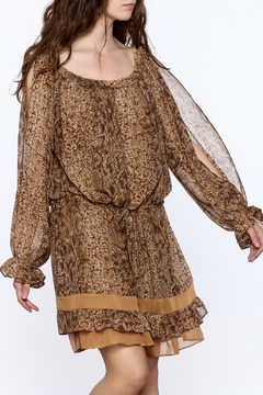 Filomena Fernandez Snake Print Chiffon Dress - Product List Image