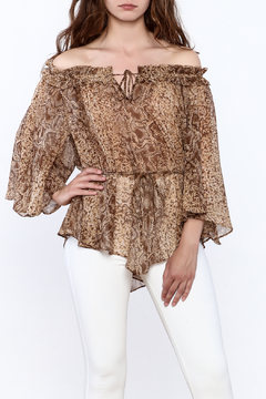 Shoptiques Product: Snake Print Chiffon Top