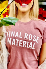 OCEAN & 7TH Final Rose Material graphic tee - Front cropped