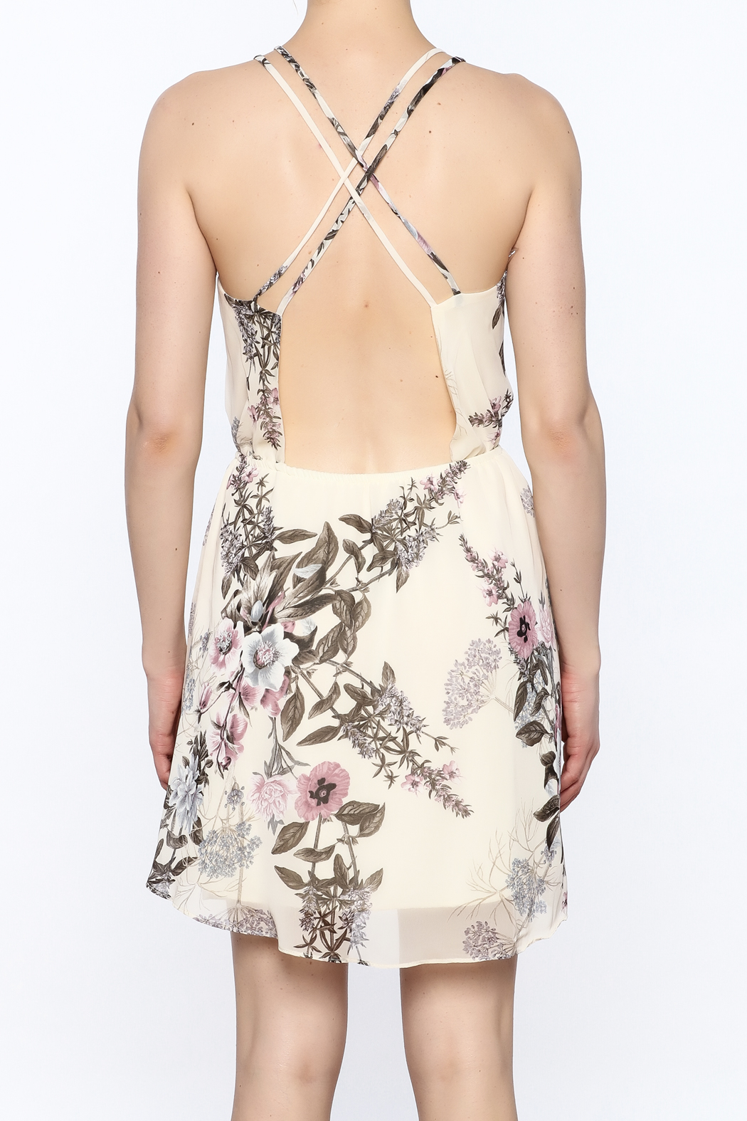 Final Touch Floral Print Dress - Back Cropped Image