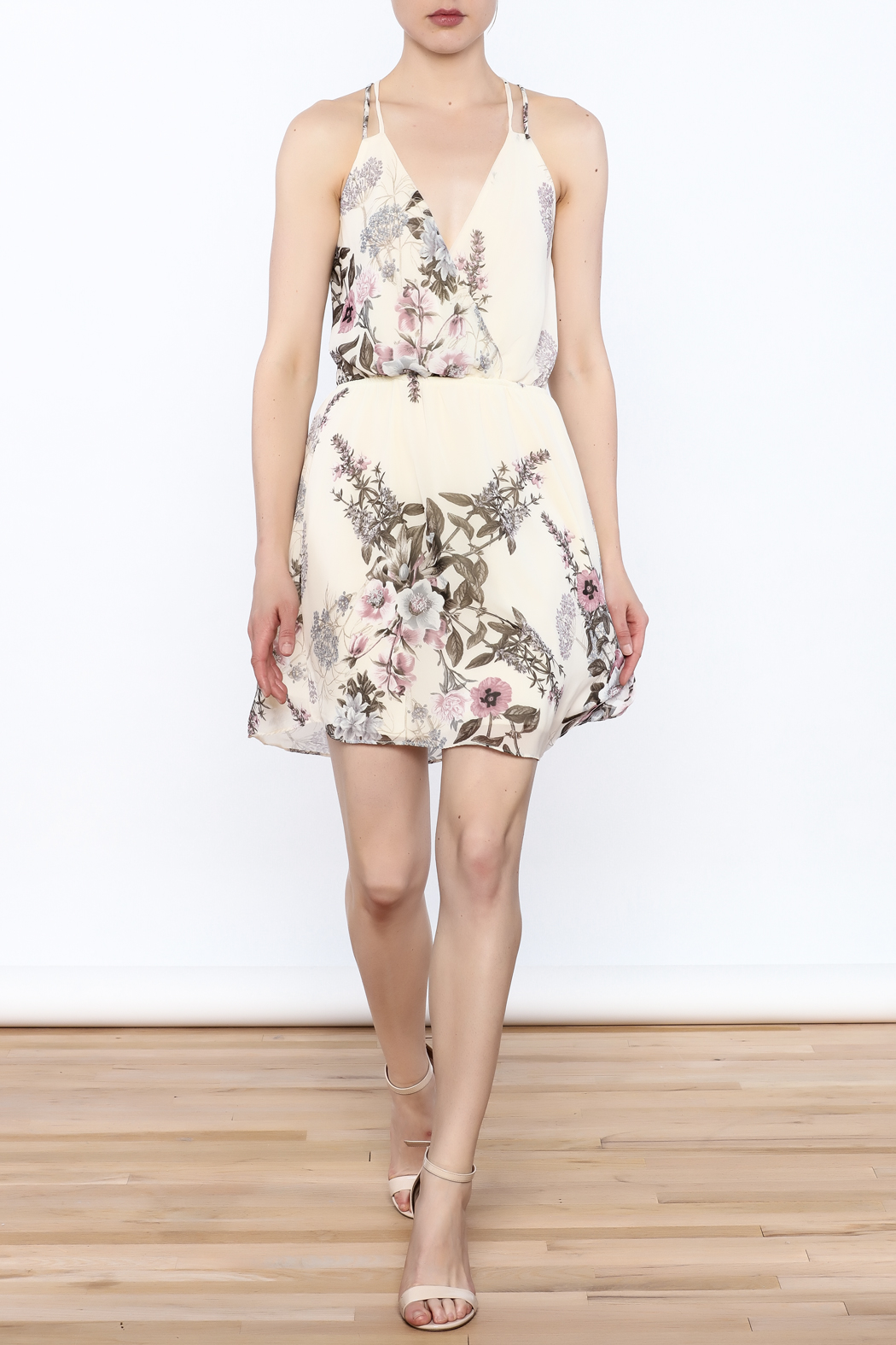 Final Touch Floral Print Dress - Side Cropped Image