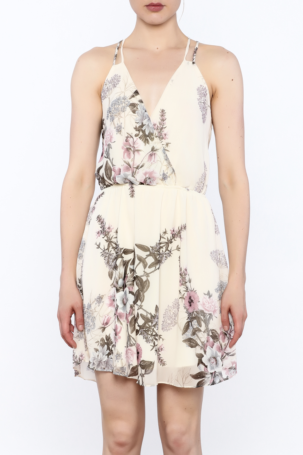 Final Touch Floral Print Dress - Front Full Image