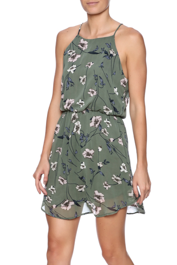 Final Touch Olive Floral Dress from New York City by Shoptiques — Shoptiques