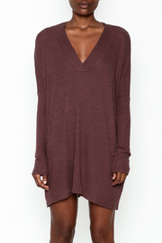 Final Touch Ribbed Long Sleeve Dress - Front full body