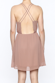 Final Touch Solid Color Dress - Back cropped