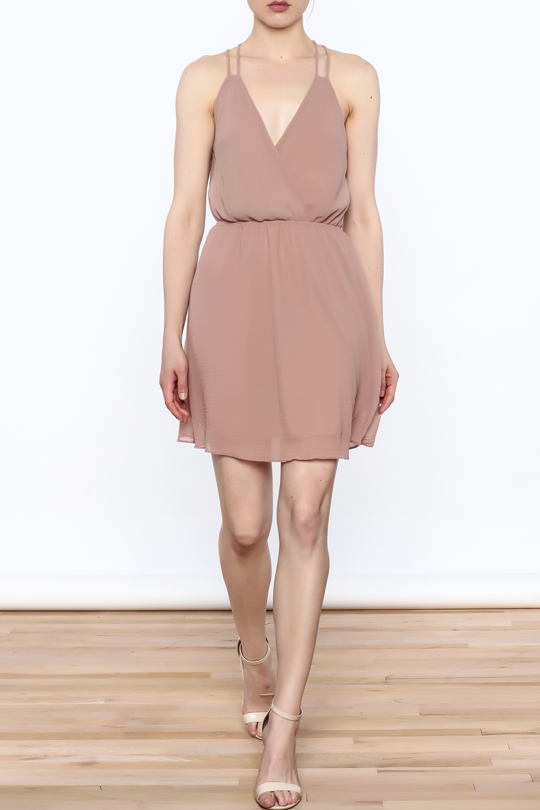 Final Touch Solid Color Dress - Side Cropped Image