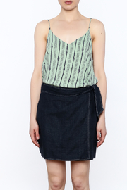 Final Touch Green Printed Sleeveless Top - Product Mini Image