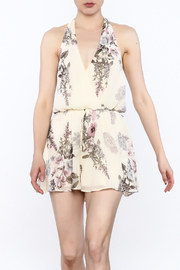 Final Touch Floral Printed Halter Romper - Product Mini Image