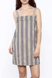 Final Touch Beige Stripe Dress - Product Mini Image