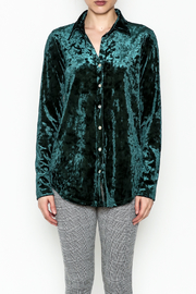 Final Touch Velvet Button Down - Front full body