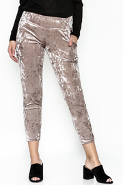 Final Touch Velvet Pants - Front cropped
