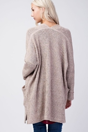 Final Touch Beige Knit Cardigan - Front full body