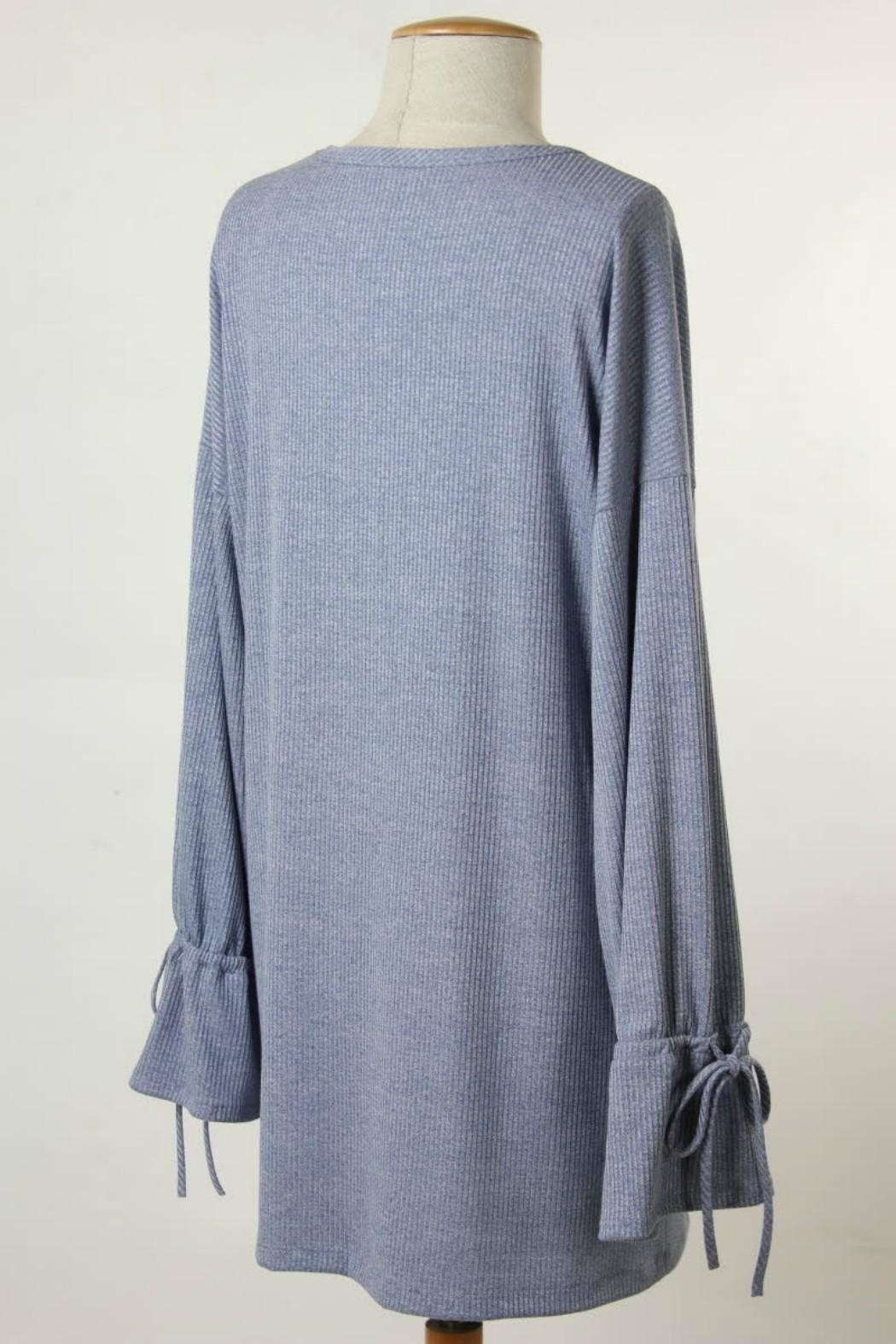 Final Touch Bell Sleeve Tunic - Front Full Image
