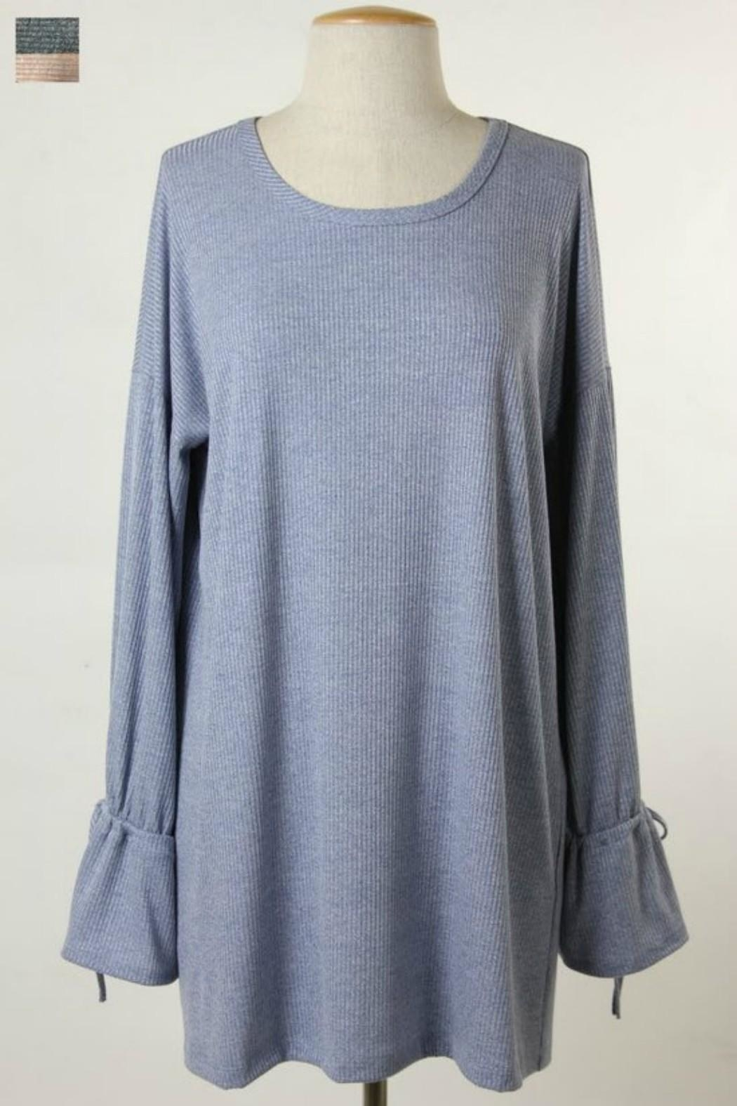 Final Touch Bell Sleeve Tunic - Front Cropped Image