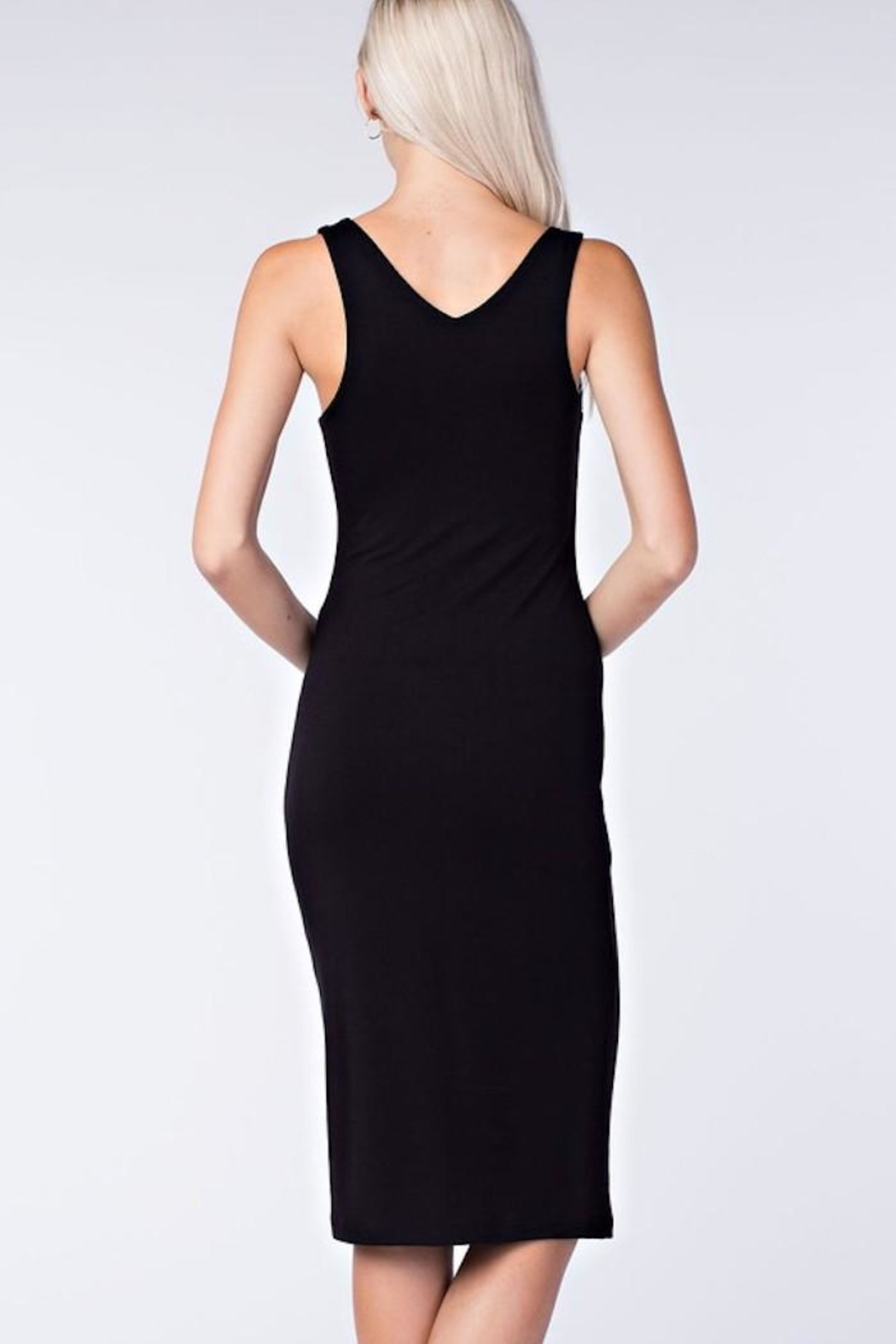Final Touch Black Bodycon Dress - Back Cropped Image