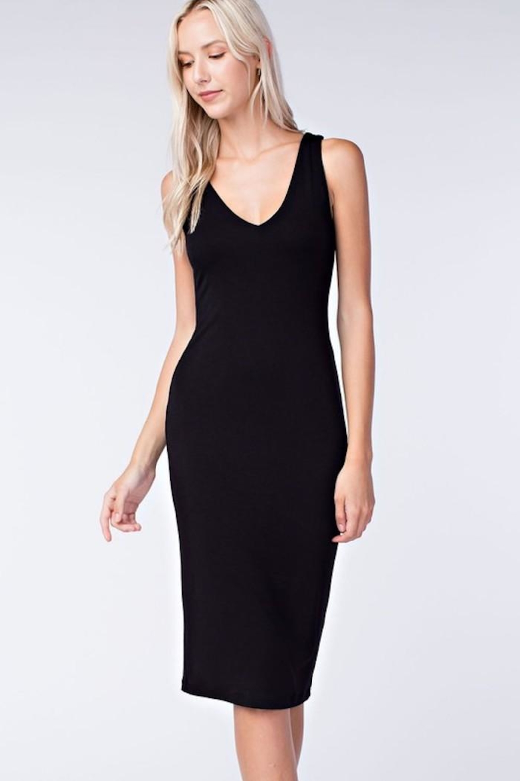 Final Touch Black Bodycon Dress - Main Image